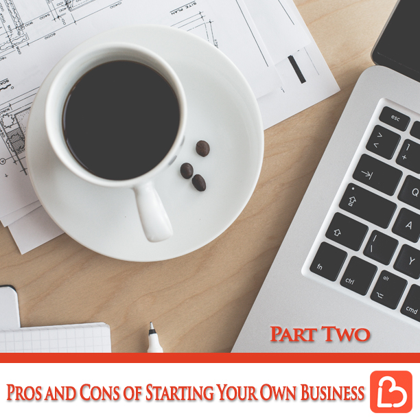 Pros and Cons of Starting Your Own Business – Part 2